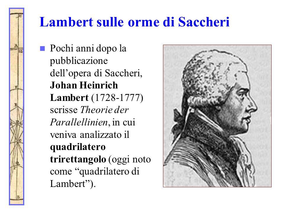Lambert sulle orme di Saccheri