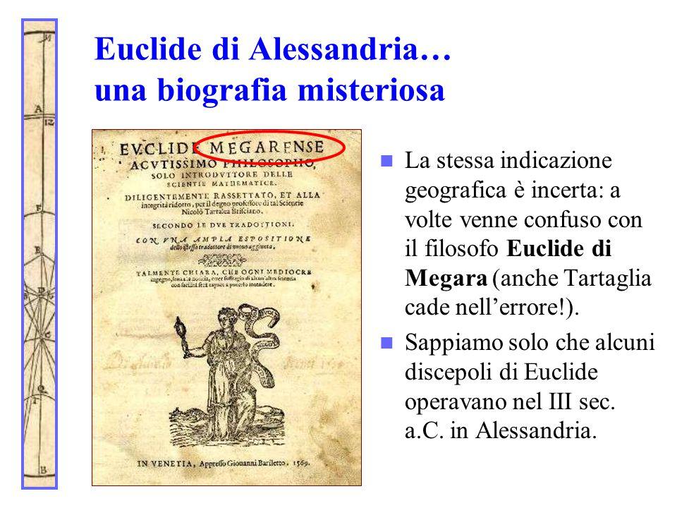 Euclide di Alessandria… una biografia misteriosa