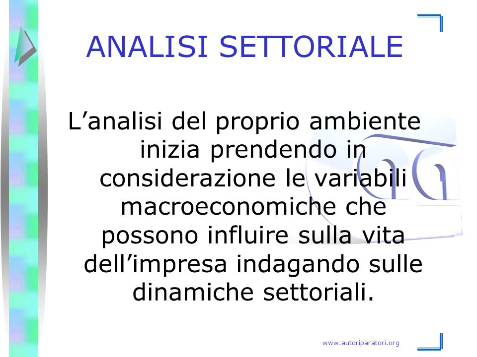 ANALISI SETTORIALE