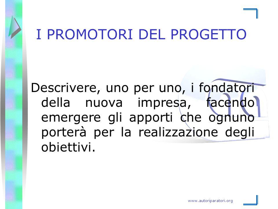 I PROMOTORI DEL PROGETTO