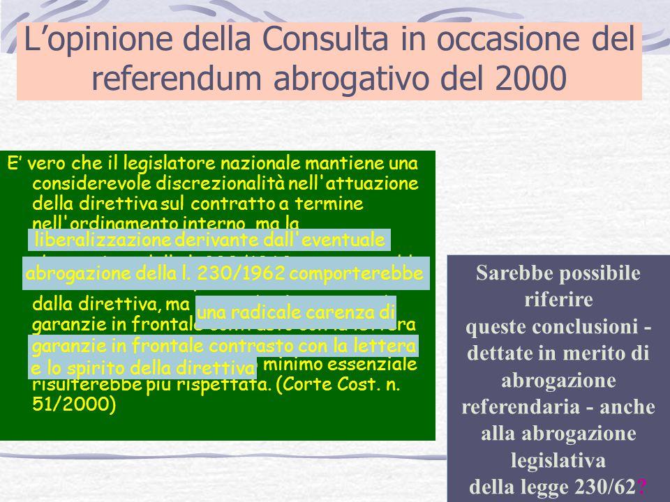 L'opinione della Consulta in occasione del referendum abrogativo del 2000