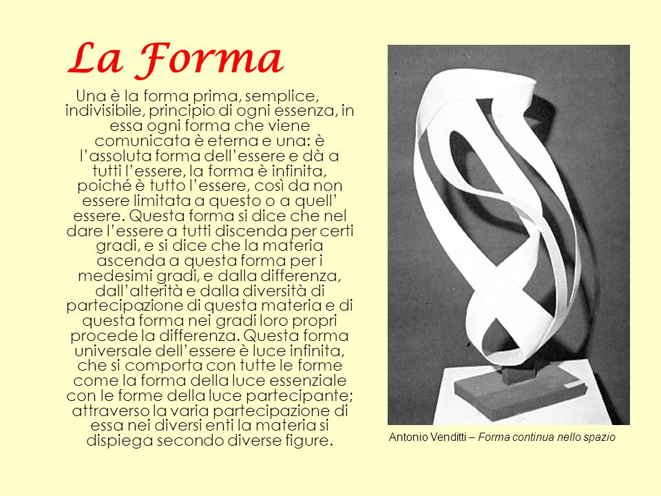 Antonio Venditti – Forma continua nello spazio