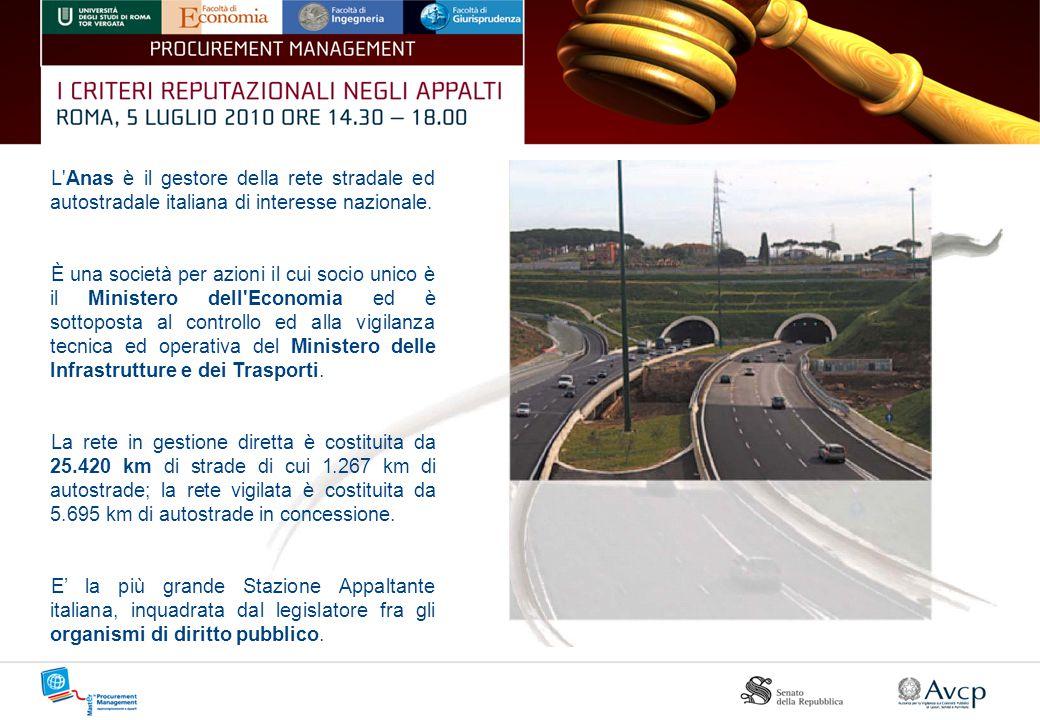 L Anas è il gestore della rete stradale ed autostradale italiana di interesse nazionale.