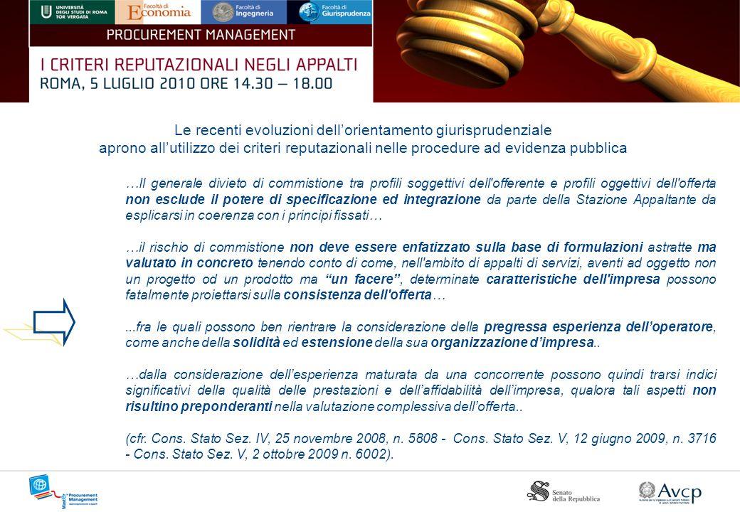 Le recenti evoluzioni dell'orientamento giurisprudenziale
