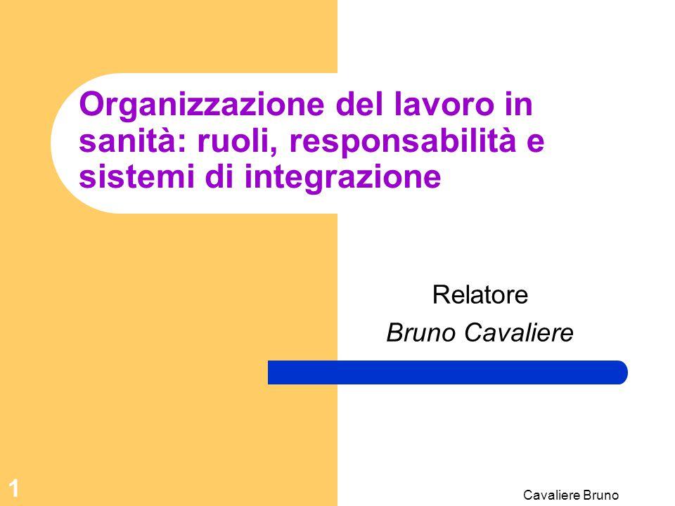 Relatore Bruno Cavaliere