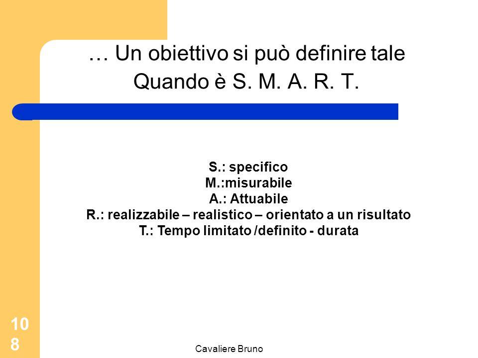 … Un obiettivo si può definire tale Quando è S. M. A. R. T.