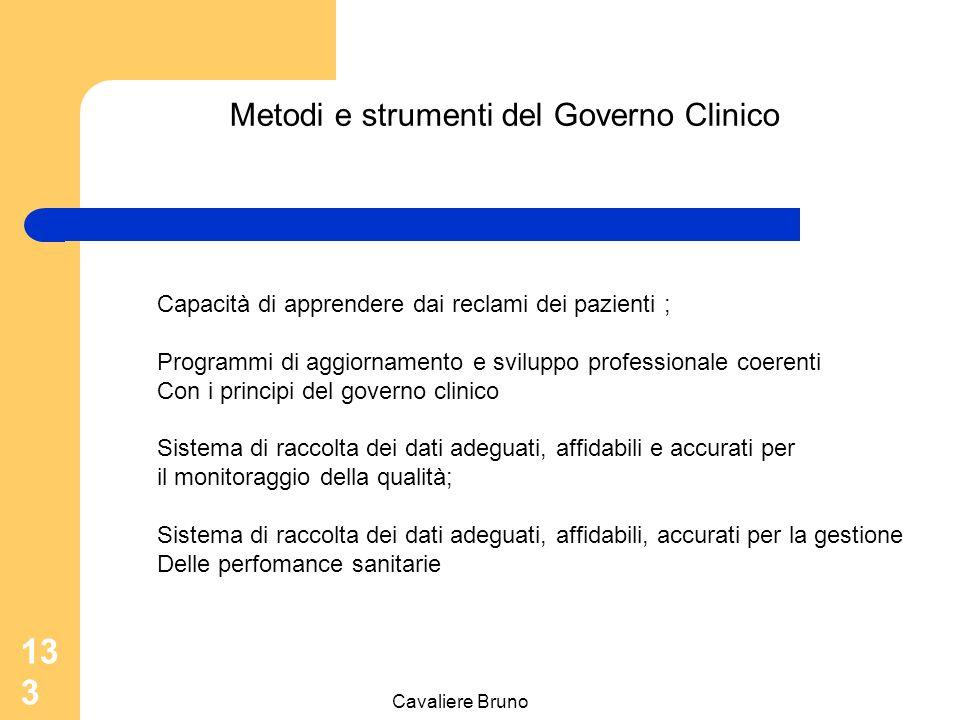 Metodi e strumenti del Governo Clinico