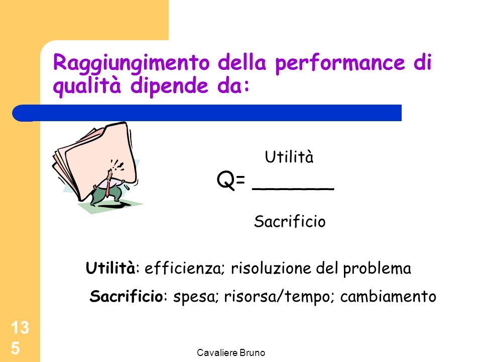 Raggiungimento della performance di qualità dipende da: