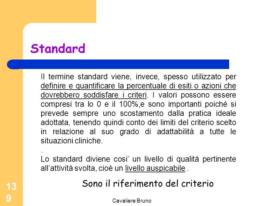 Standard Sono il riferimento del criterio