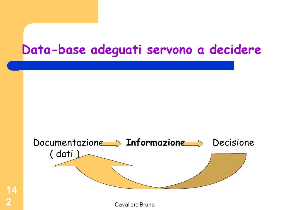 Data-base adeguati servono a decidere
