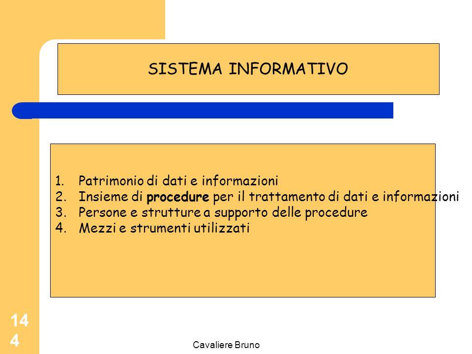 SISTEMA INFORMATIVO Patrimonio di dati e informazioni