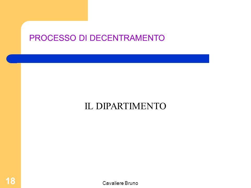 PROCESSO DI DECENTRAMENTO
