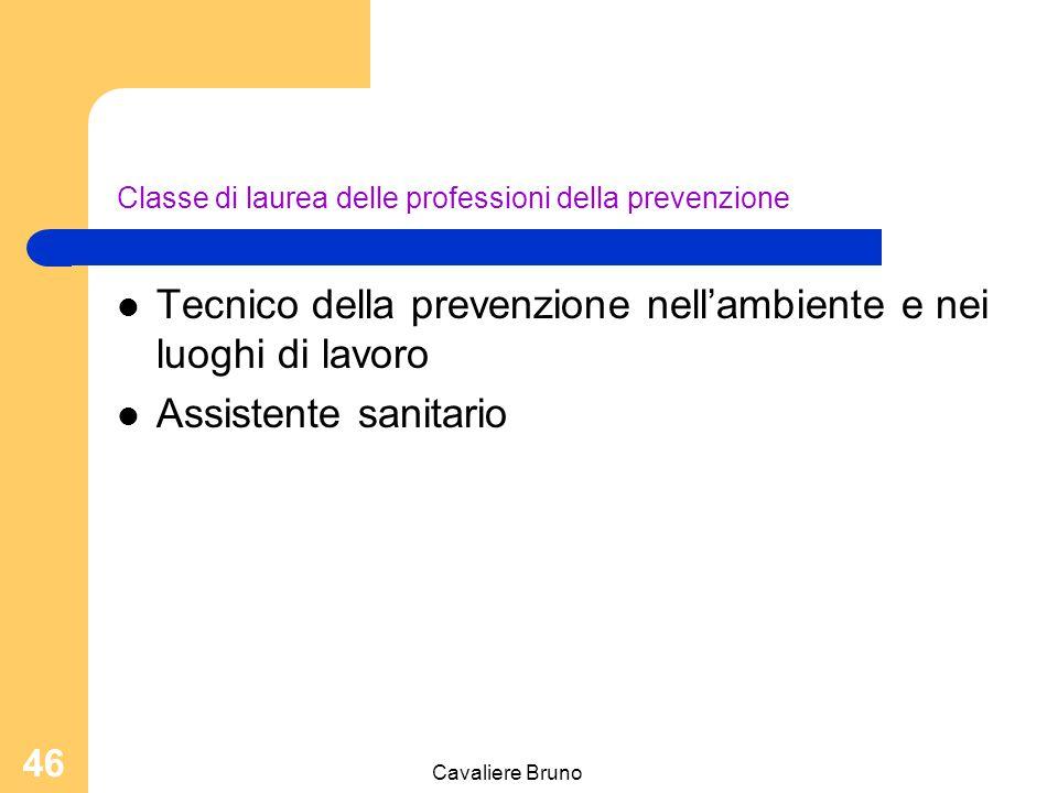 Classe di laurea delle professioni della prevenzione