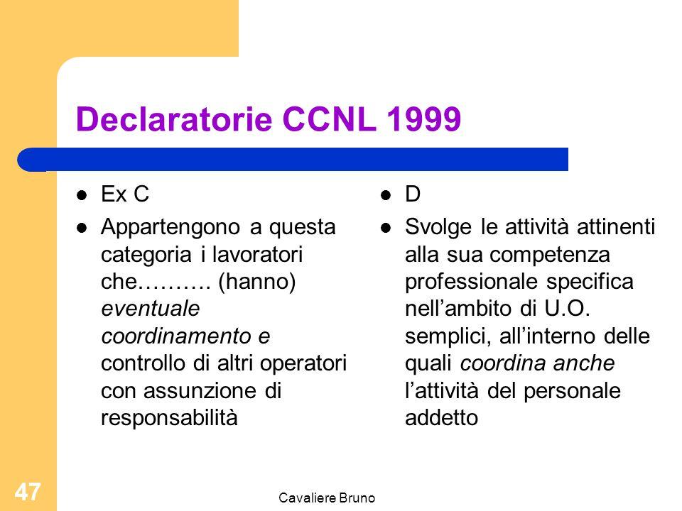 Declaratorie CCNL 1999 Ex C.