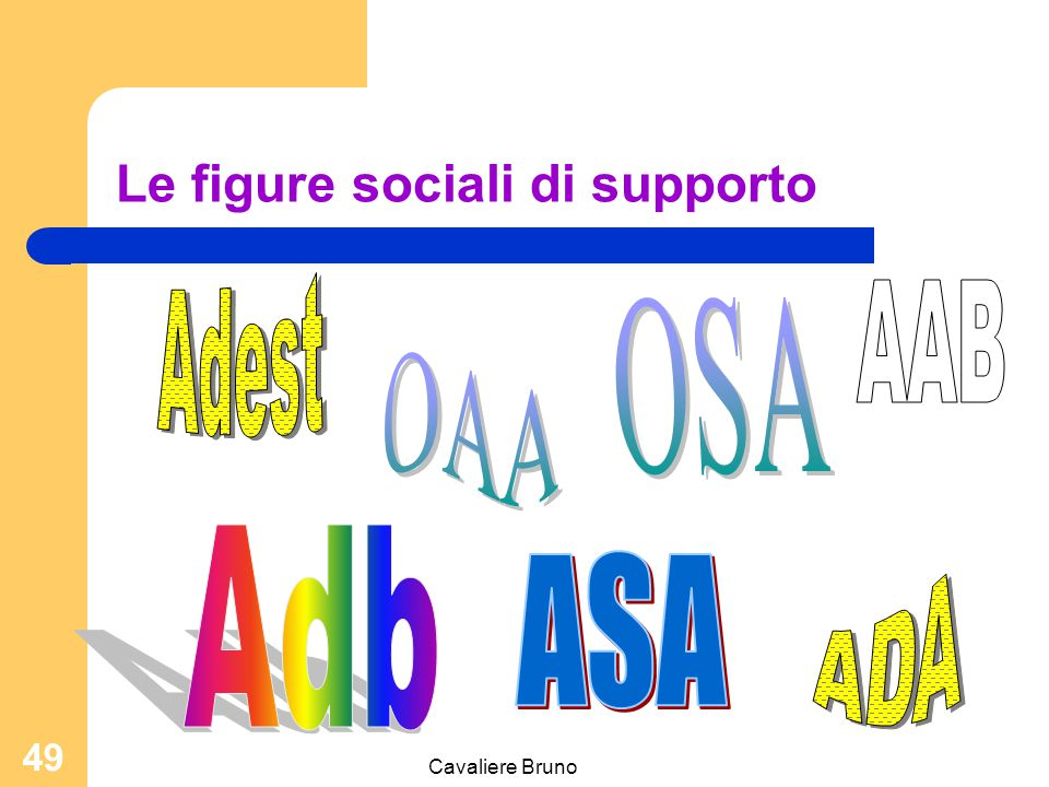 Le figure sociali di supporto