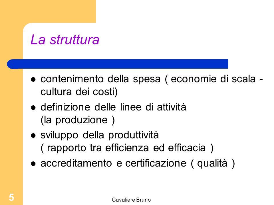 La struttura contenimento della spesa ( economie di scala - cultura dei costi)