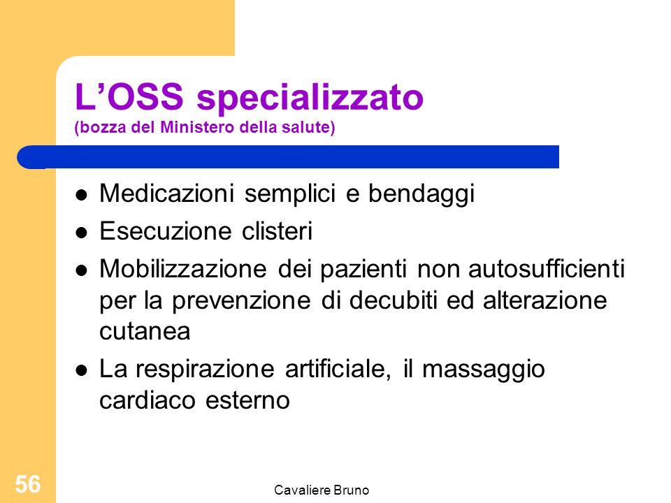 L'OSS specializzato (bozza del Ministero della salute)