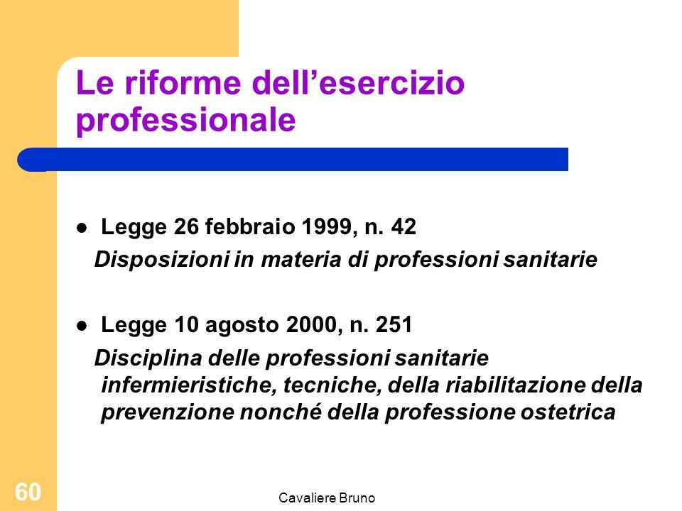 Le riforme dell'esercizio professionale
