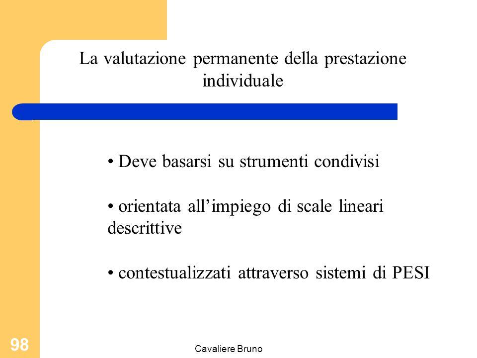 La valutazione permanente della prestazione individuale