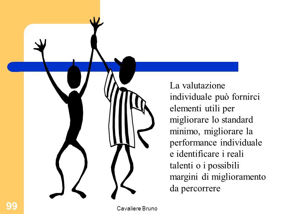La valutazione individuale può fornirci elementi utili per migliorare lo standard minimo, migliorare la performance individuale e identificare i reali talenti o i possibili margini di miglioramento da percorrere
