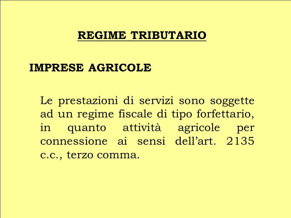 REGIME TRIBUTARIO IMPRESE AGRICOLE.