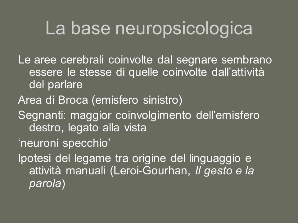 La base neuropsicologica
