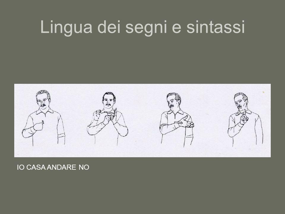 Lingua dei segni e sintassi
