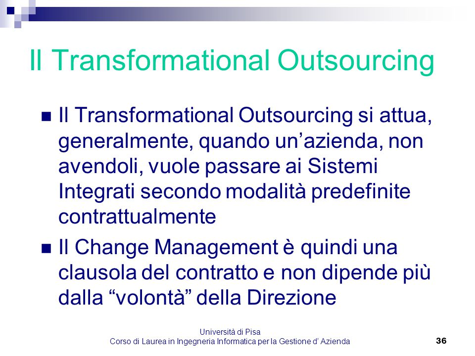 Il Transformational Outsourcing