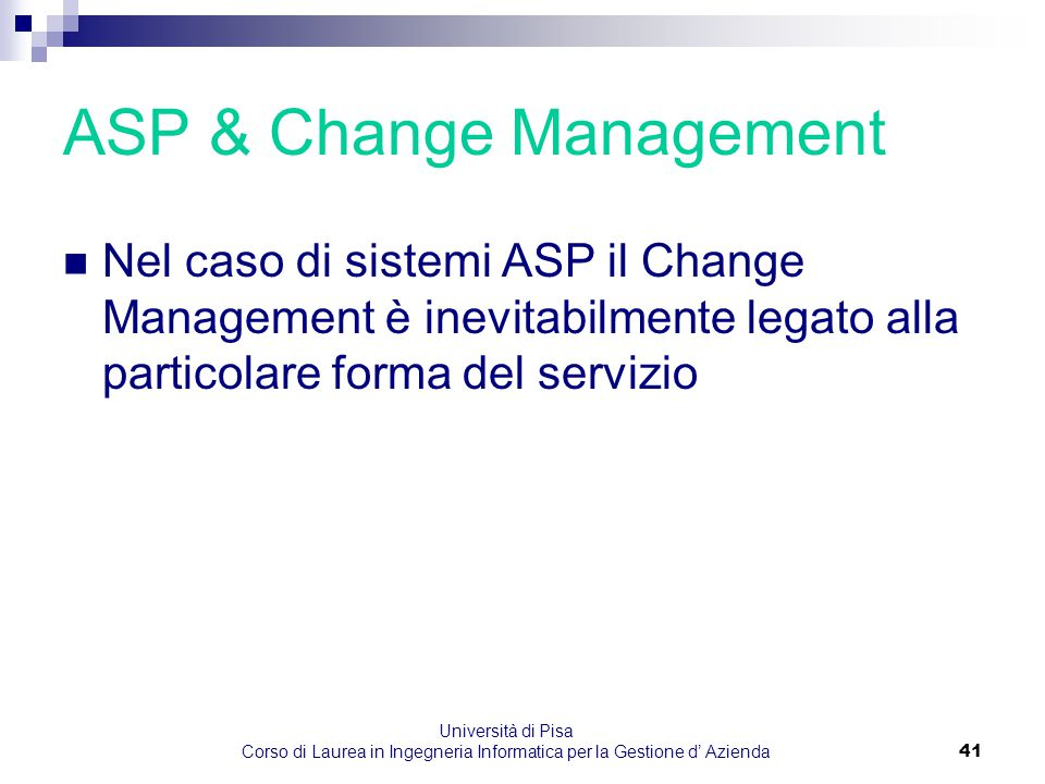 ASP & Change Management