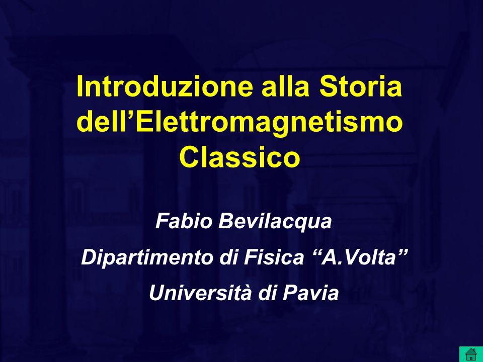 Introduzione alla Storia dell'Elettromagnetismo Classico