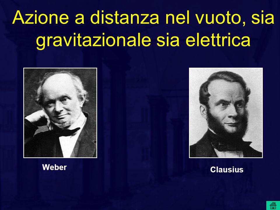 Azione a distanza nel vuoto, sia gravitazionale sia elettrica