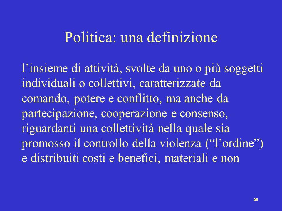 Politica: una definizione