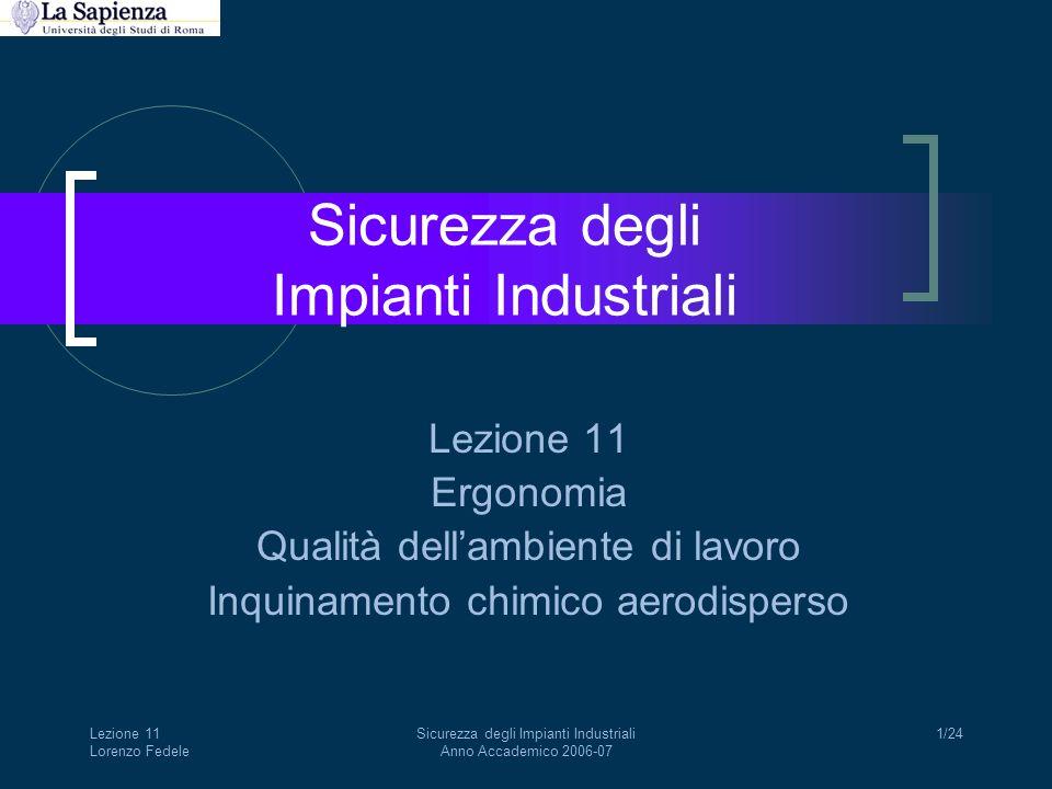 Sicurezza degli Impianti Industriali