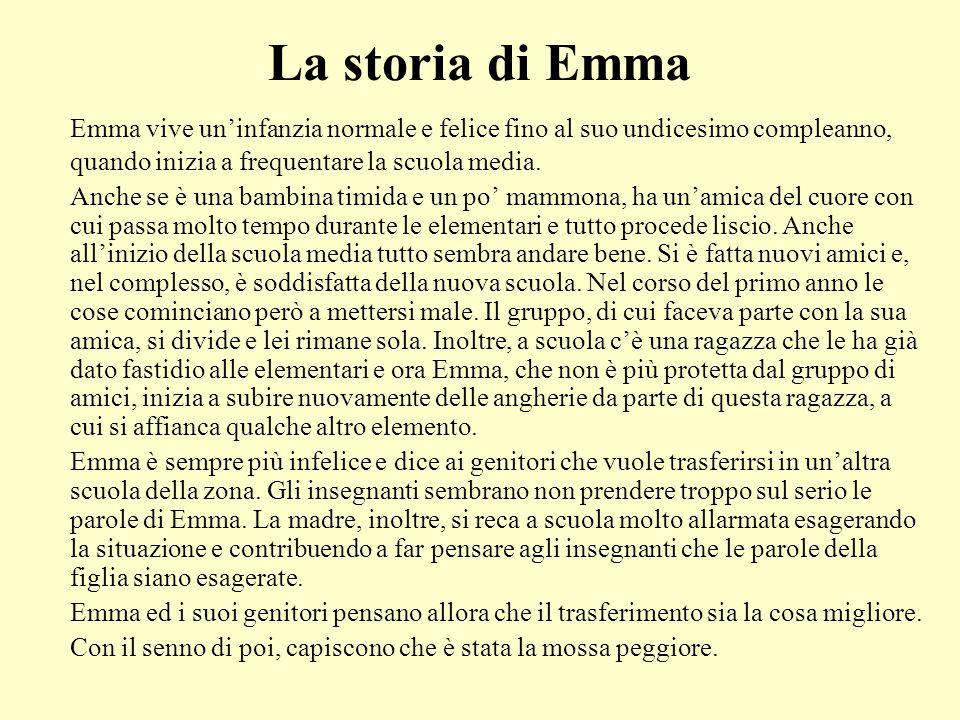La storia di Emma Emma vive un'infanzia normale e felice fino al suo undicesimo compleanno, quando inizia a frequentare la scuola media.