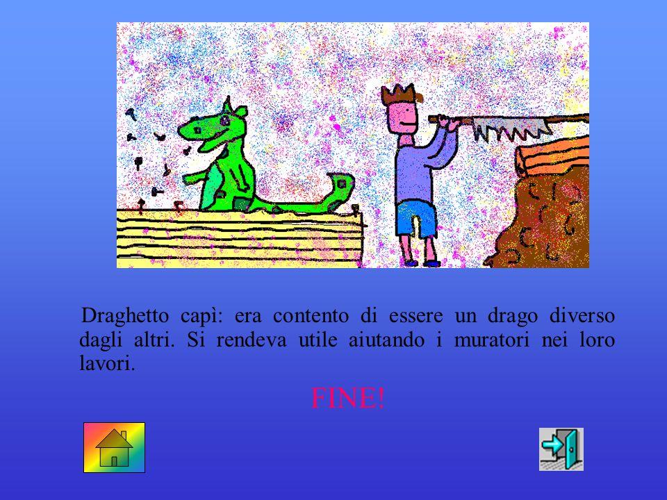 Draghetto capì: era contento di essere un drago diverso dagli altri