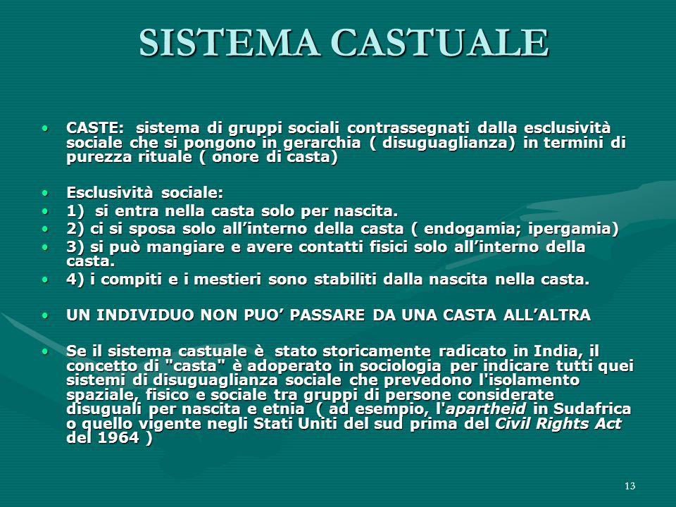 SISTEMA CASTUALE