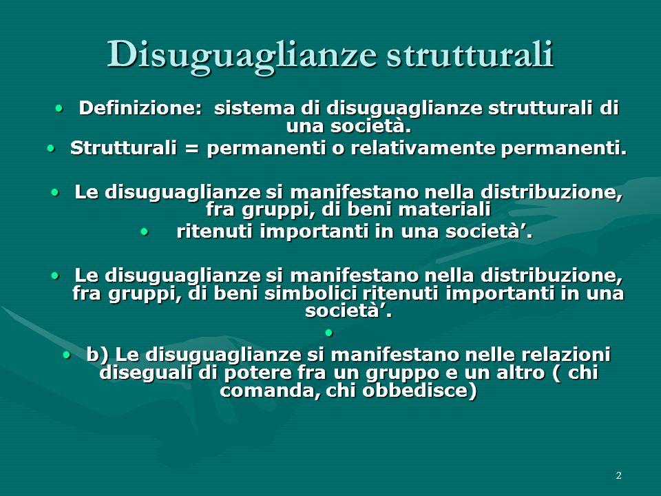 Disuguaglianze strutturali
