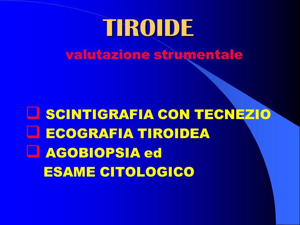 TIROIDE valutazione strumentale SCINTIGRAFIA CON TECNEZIO