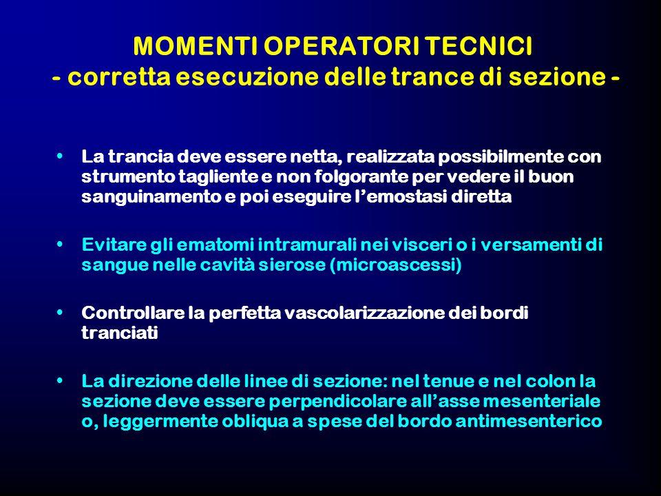 MOMENTI OPERATORI TECNICI - corretta esecuzione delle trance di sezione -