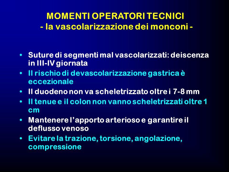 MOMENTI OPERATORI TECNICI - la vascolarizzazione dei monconi -
