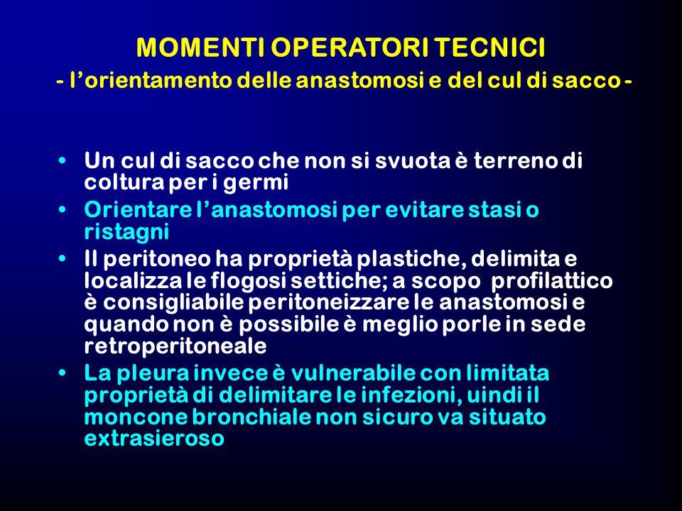 MOMENTI OPERATORI TECNICI - l'orientamento delle anastomosi e del cul di sacco -