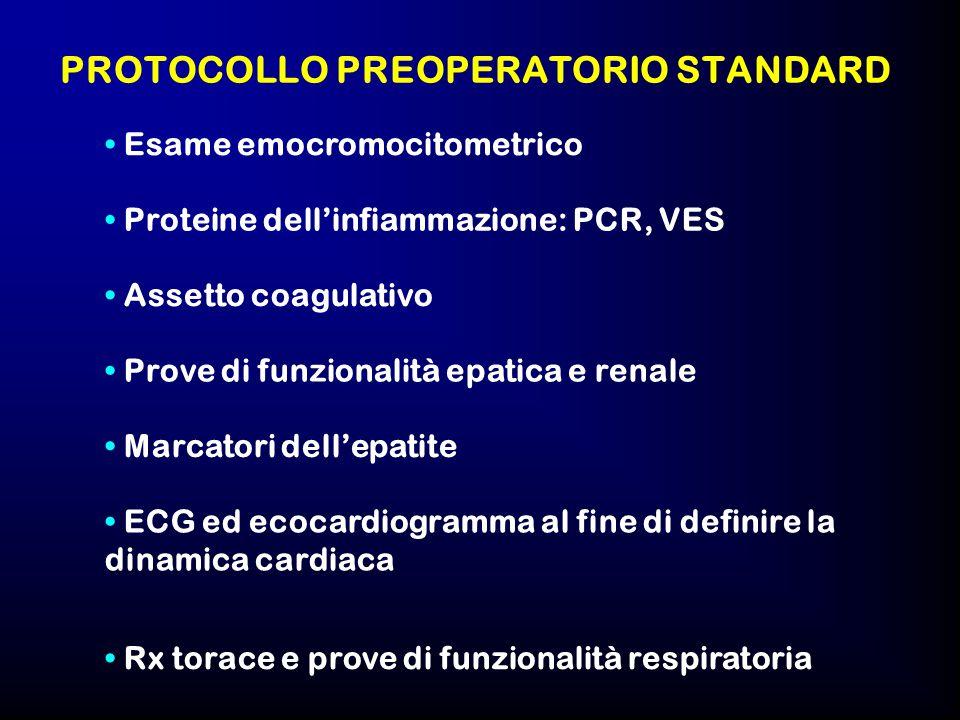 PROTOCOLLO PREOPERATORIO STANDARD