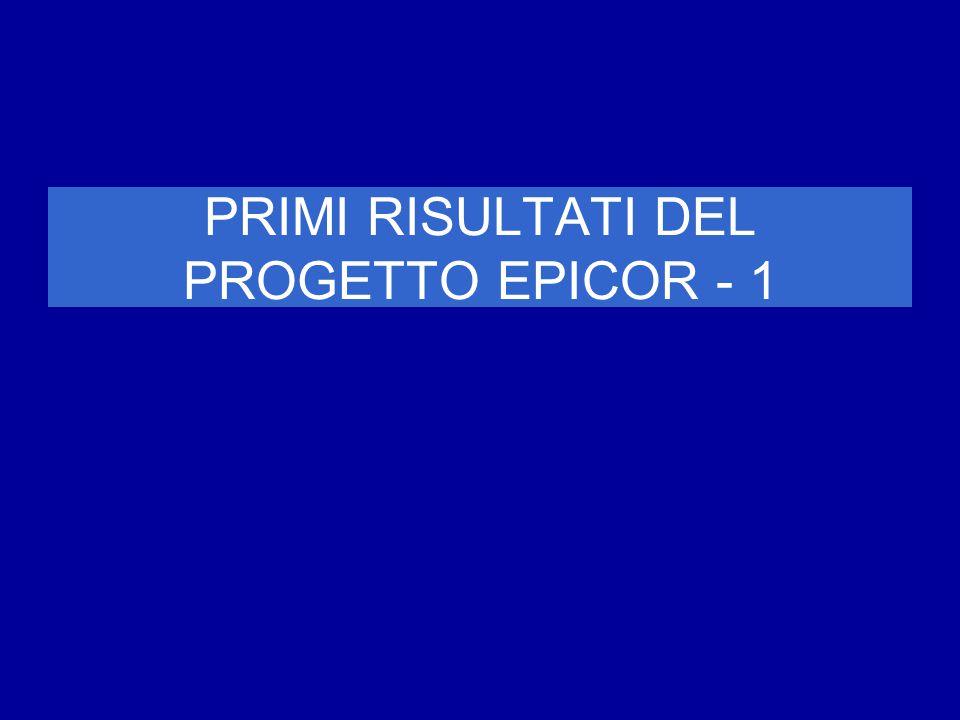 PRIMI RISULTATI DEL PROGETTO EPICOR - 1