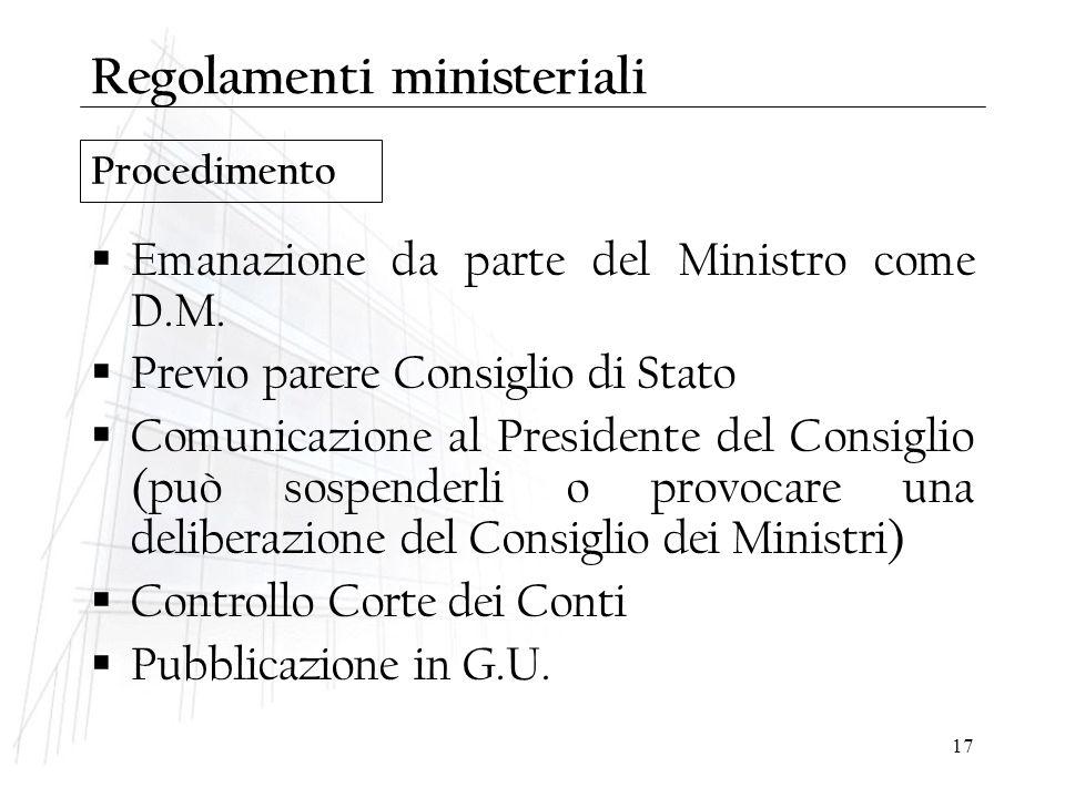 Regolamenti ministeriali