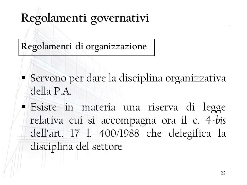 Regolamenti governativi