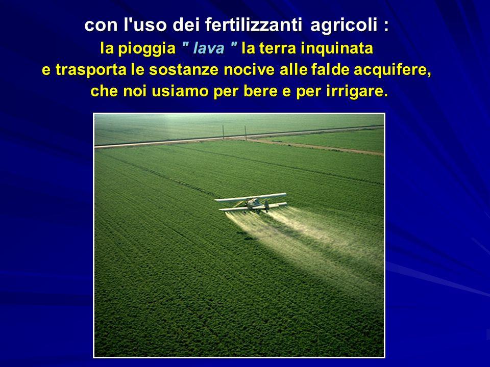 con l uso dei fertilizzanti agricoli :