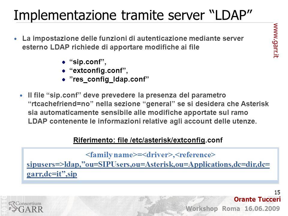 Implementazione tramite server LDAP