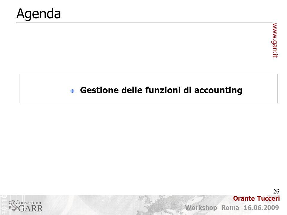 Gestione delle funzioni di accounting