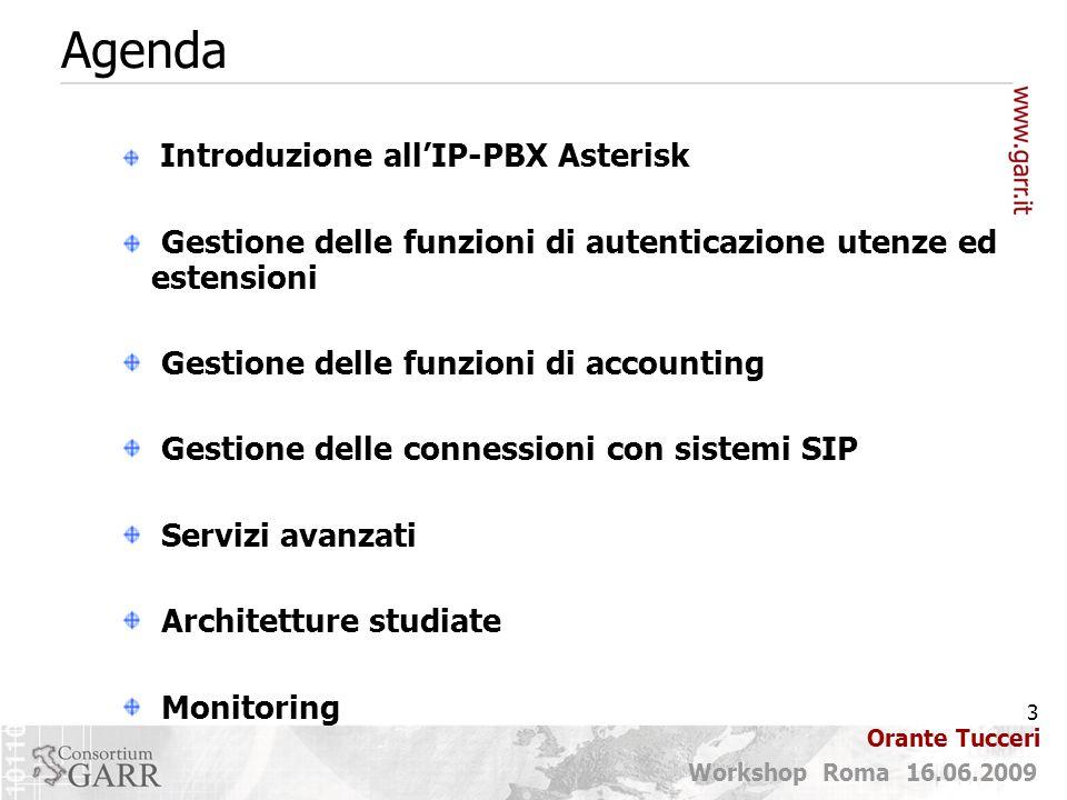 Agenda Gestione delle funzioni di autenticazione utenze ed estensioni