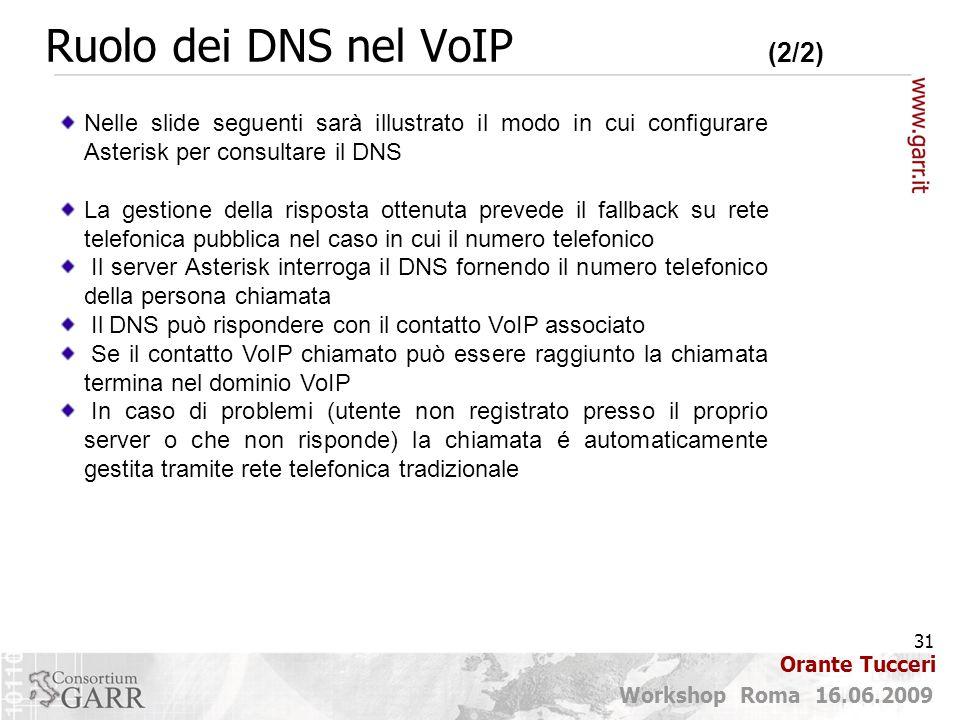 Ruolo dei DNS nel VoIP (2/2)